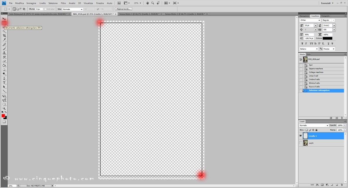 Passo 5: Aggiungere o rimuovere vignettatura alle foto