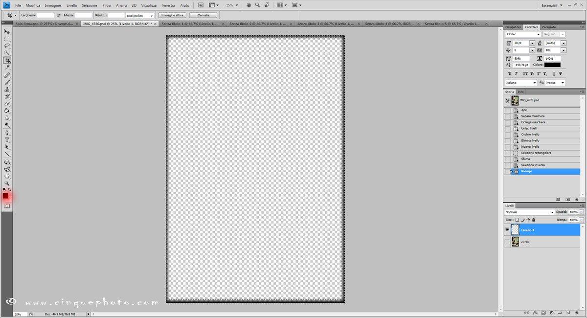 Passo 8: Aggiungere o rimuovere vignettatura alle foto