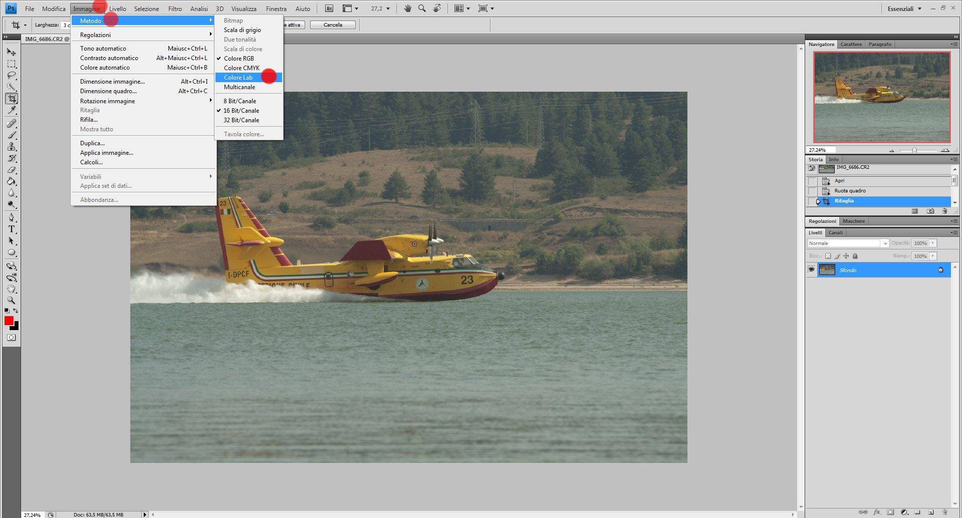 Passo 1: come usare Color Lab in Photoshop
