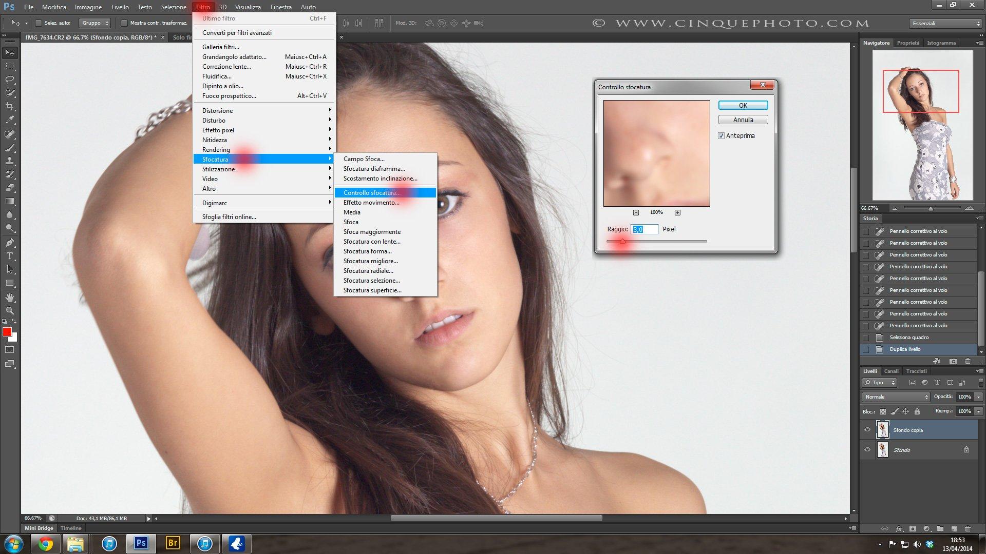 Passo 3: Tecniche di Ritocco Viso con Photoshop per fotografia Beauty