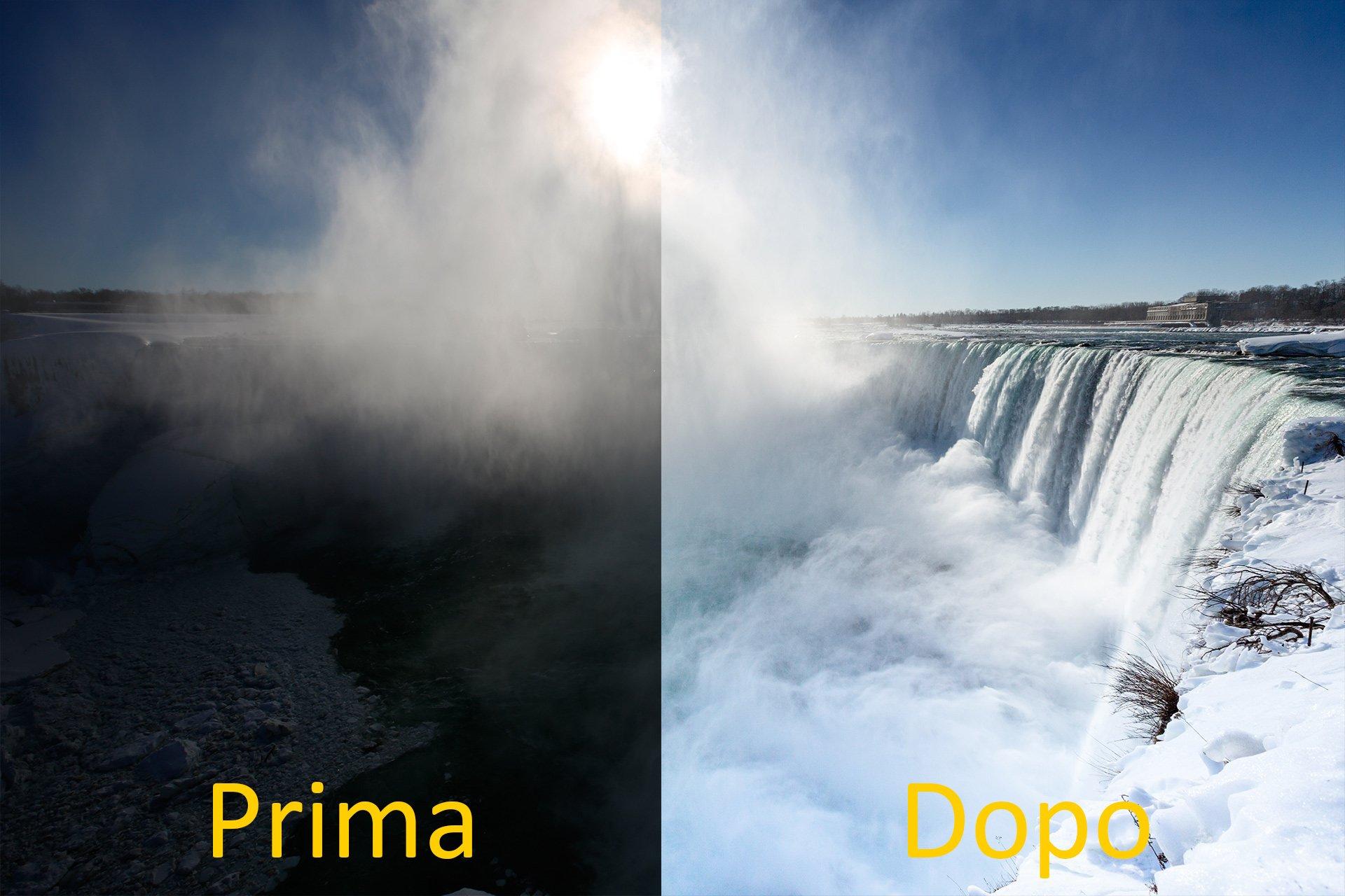 Foto dal versante Canadese delle cascate del Niagara