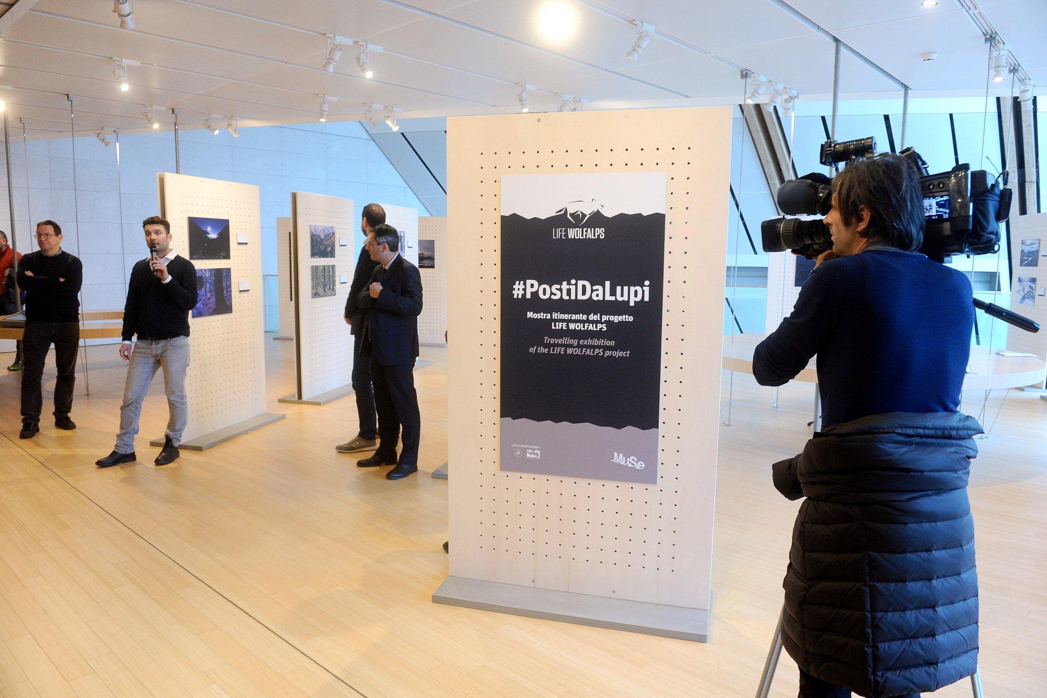 Inaugurazione esposizione Posti da Lupi MUSE Trento