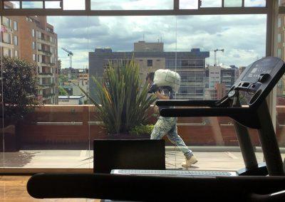 Bogotà Colombia, vetrine palestra