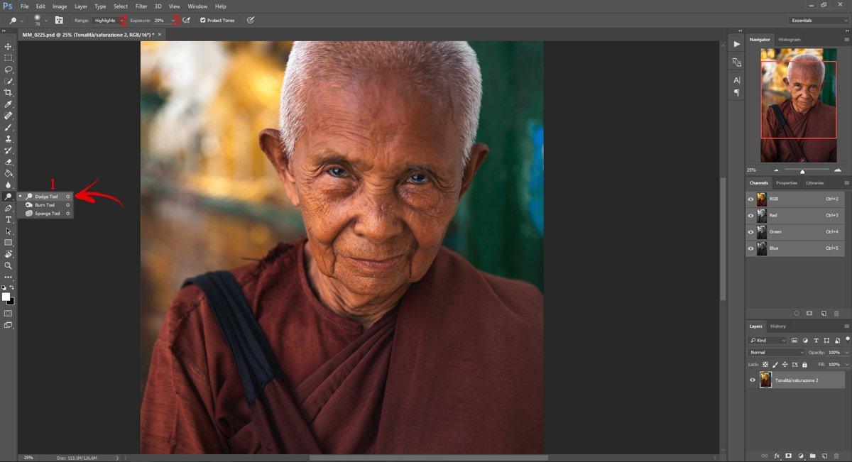 Passo 2: Ravvivare gli occhi con Photoshop