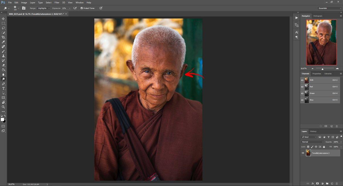Passo 3: Ravvivare gli occhi con Photoshop