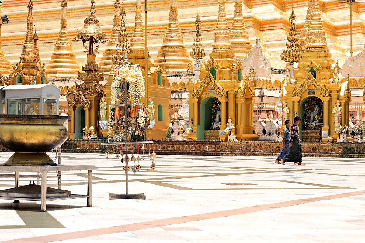La Shwedagon pagoda a Yangon