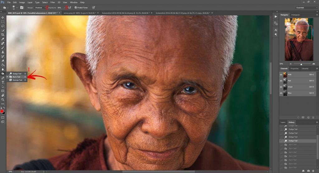 Migliorare gli occhi con Photoshop