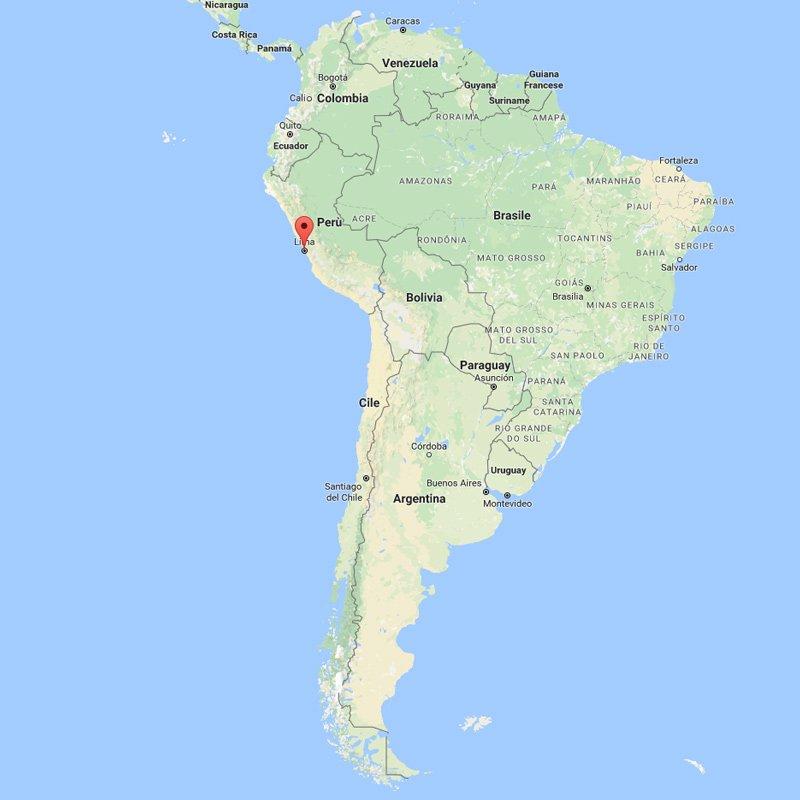 Mappa del Perù - Sud America