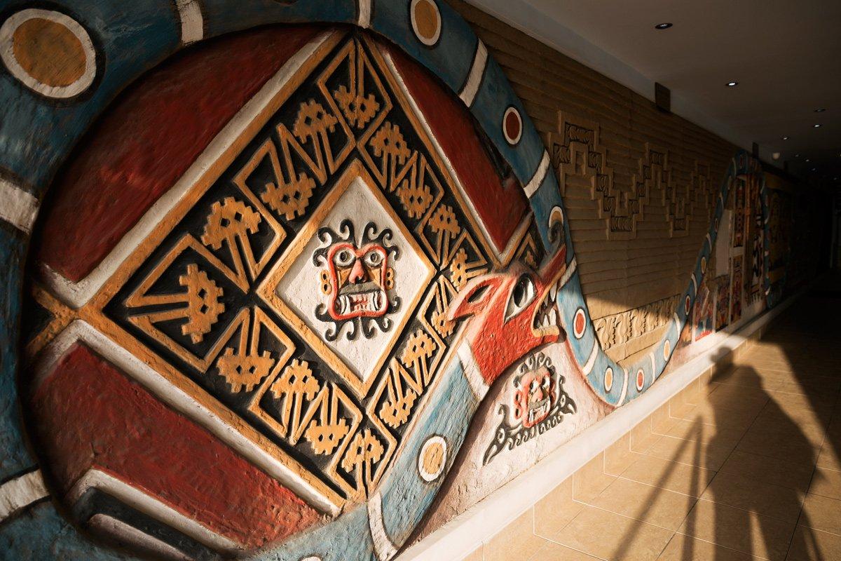 Un muro raffigura l'intero spirito peruviano