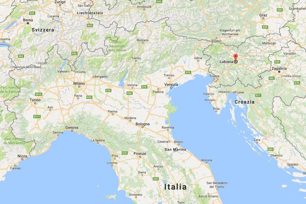 Le distanze tra la Slovenia e l'Italia: Lubiana, Bled e Trieste