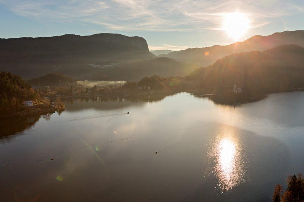 Tramonto sul Lago di Bled (Slovenia)