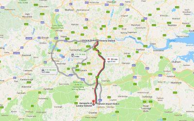 Come raggiungere Londra dall'aeroporto di Gatwick
