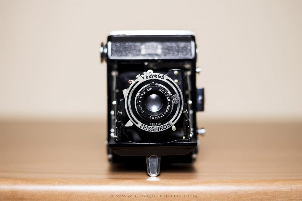 Fotocamera Zeiss a soffietto