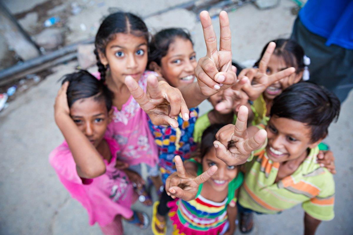 India Rajasthan bambini giocano