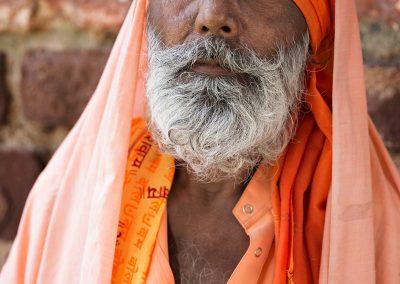 Ritratto di un uomo in India