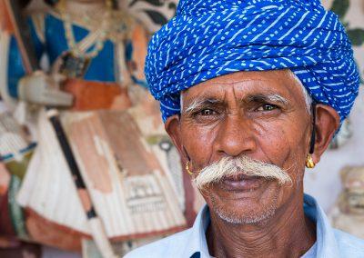 Un ritratto di un uomo in Rajasthan