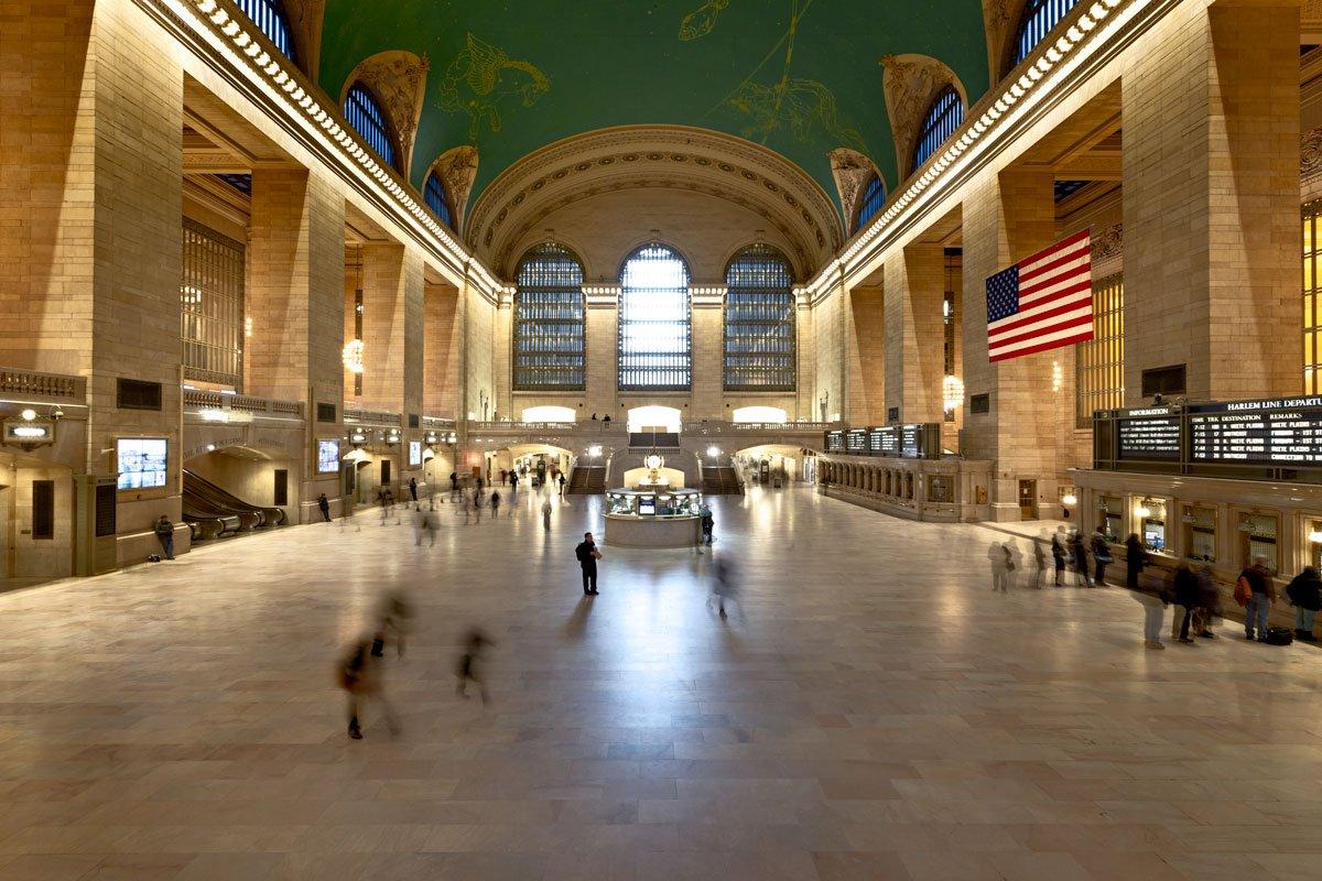 Ritratto America USA New York Stazione Ferroviaria Station