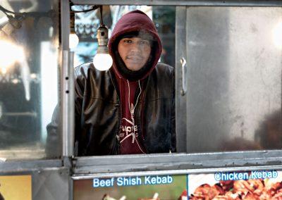 Ritratto America USA Kebab chiosco new york