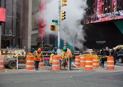 America USA New York vapore strada lavoratori