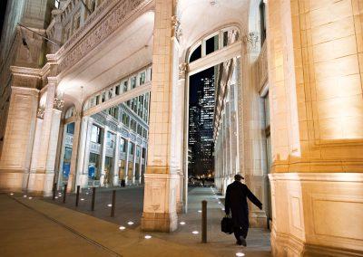 Chicago città uomo cammina