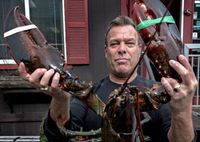 Aragosta Astice Pescatore Boston Uomo USA America