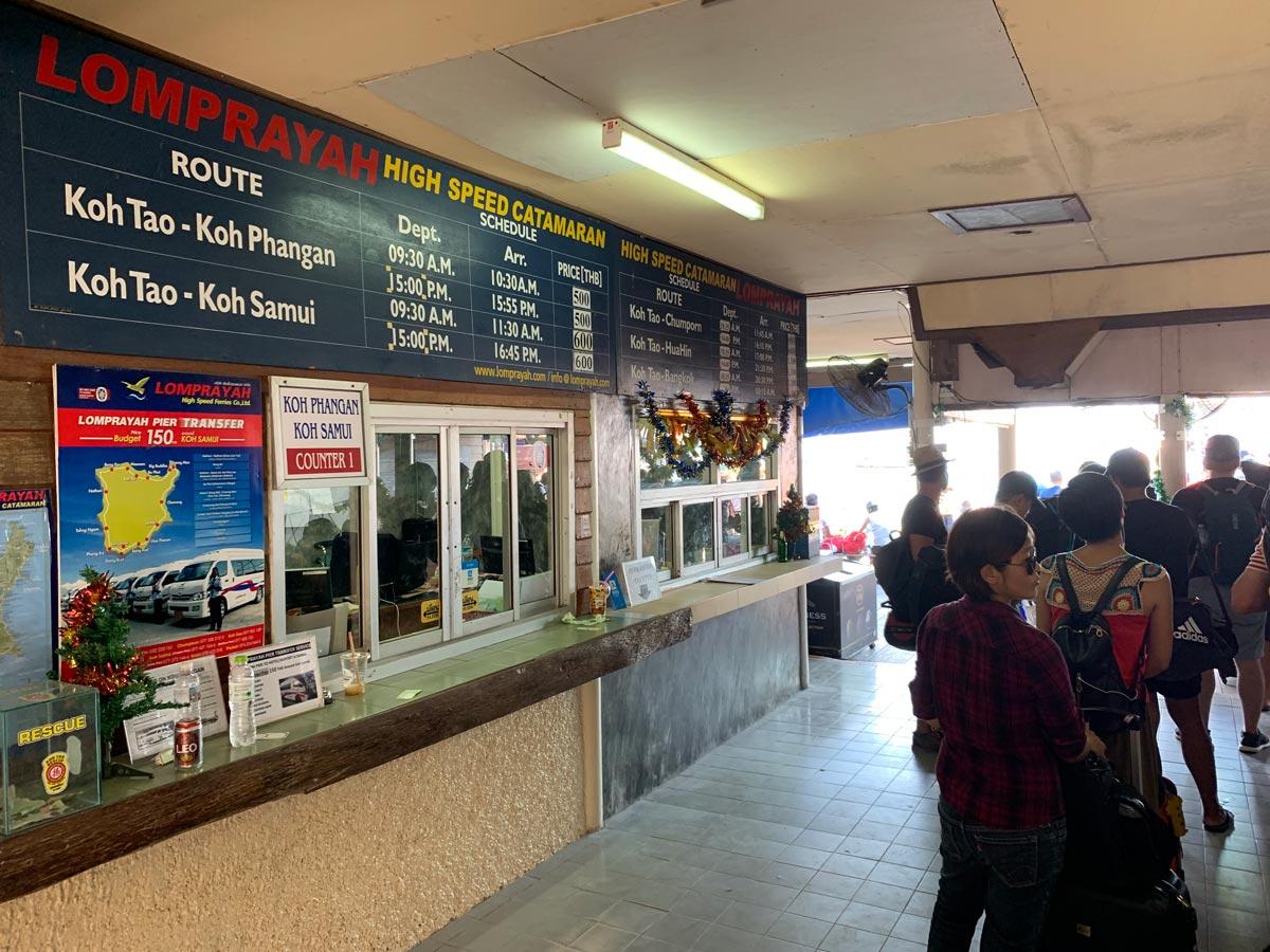 Koh Samui Koh Tao Koh Phangan Lomprayah traghetto bus mappa