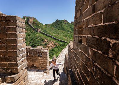 Grande Muraglia, piccolo bambino