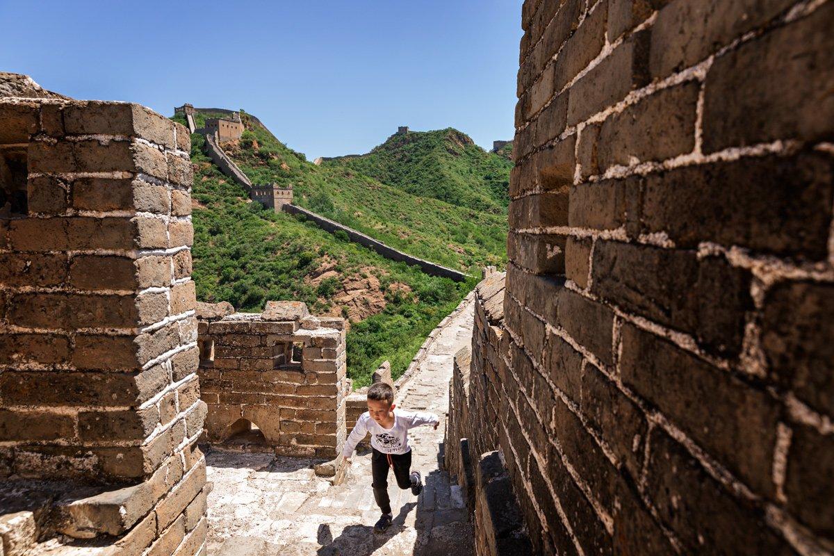 Grande Muraglia Cinese Scale Bambino