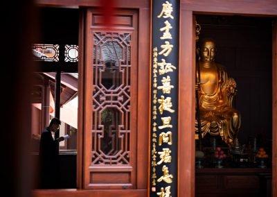 Monaco Prega Buddha Tempio