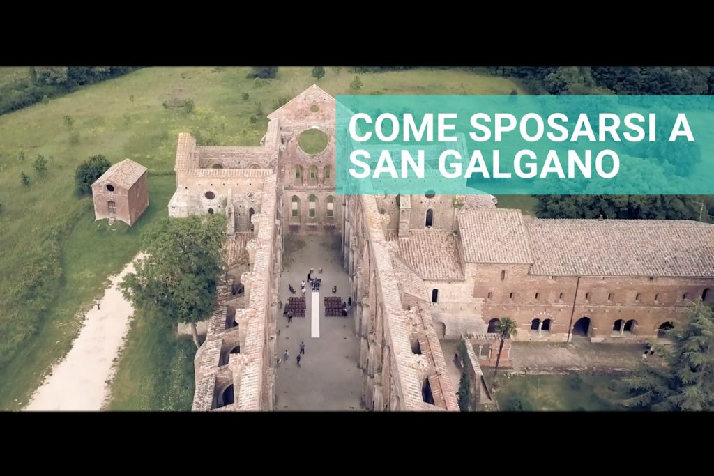 Abbazia San Galgano Drone Chiusdino Siena Matrimonio